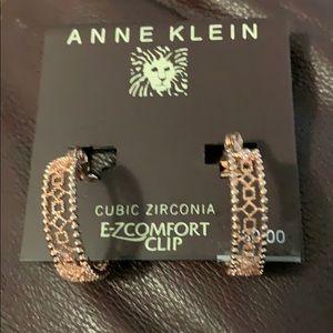 Anne Klein Cubic Zirconia Clip On Earrings